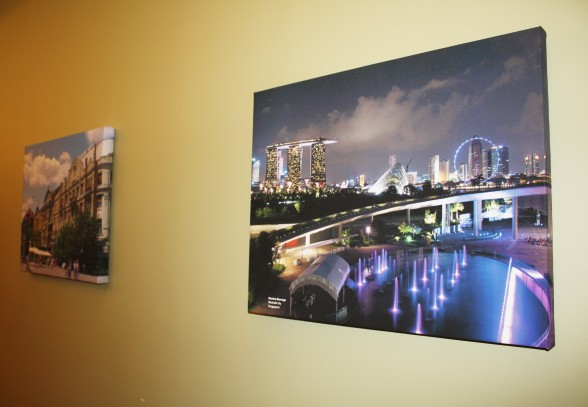 Sustainalytics has a global mindset, the office displays photos of Singapore, Amsterdam, Paris, and other sister cities with offices.