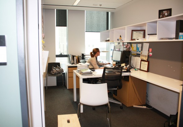 Jodi Butts, the Executive Director, in her office.