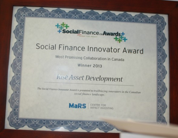 One of many awards Rise has received for its impact.